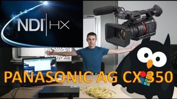 Panasonic AG CX350 обзор + NDI | HX